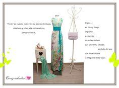 Vestido de edición limitada diseñado y fabricado en Barcelona, por Corazonhadas www.corazonhadas.biz