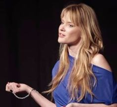 """#tbt ...The awesome Justine Musk at her TED talk: """"The art of the deep yes"""", wearing the NINI ring bracelet by PAULINA jewelry #justinemusk #paulinajewelry #TED"""