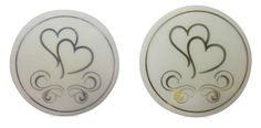 50 x Silver or Gold Heart Envelope Stickers Seals for Wedding Invitations