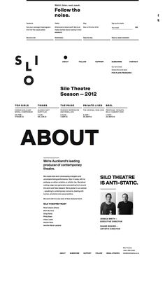 Silo Theatre - About page is about as kickass as possible.