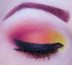 Red, orange and yellow eyes tutorial