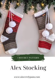 Free Crochet Stocking Pattern This stitch has a great texture, is nice and dense (no candy canes will fall out!) and it's perfectly gender neutral so you can go ahead and make one for every person on your list! Crochet Christmas Stocking Pattern, Crochet Stocking, Knitted Christmas Stockings, Holiday Crochet, Christmas Knitting, Crochet Crafts, Crochet Yarn, Yarn Crafts, Crochet Projects