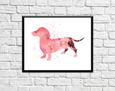 Print No T02 Beautifully designed Dachshund Art Print is ideal to give it as gift for someone who loves dogs..This Dachshund Watercolor ( Dachshund