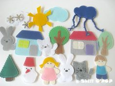 PDF Pattern Felt Magnetic Toy Set Tin Box Game For Kids