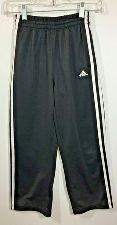 1f428bc1143292 (eBay Sponsored) Adidas Black Jogger Athletic Pants Child Size Small White  Pockets