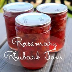 Rosemary Rhubarb Jam- Putting Up with Erin