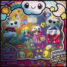 Kawaii crush toys- i want these so bad! Toys For Girls, Kids Toys, Kawaii Crush, Lps Dog, Minnie Mouse Toys, Unicorn Birthday Parties, 10th Birthday, Birthday Gifts, Mermaid Tails For Kids