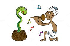 Snake Tamer by zetwe shop on Creative Market