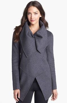 'Marila' Asymmetrical Wool Blend Coat #Nordstrom #ad *Out of my price range, but love it just the same...