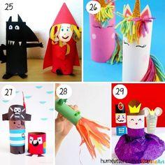 80 bricolages pour enfants à faire avec des rouleaux de papier toilette - Toilet Paper, Origami, Lily, Activities, Games, Outdoor Decor, Crafts, Descendants, Coin