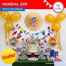 Resultado de imagen para tematica del mundial 2018 Boy Birthday, Birthday Parties, Russia World Cup, Soccer Party, Class Decoration, Ideas Para Fiestas, Girly Things, Projects To Try, Crafts
