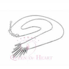 collar lujoso de joyería de plata fina