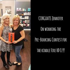 C O N G R A T S  My fabulous client Jennifer won our salon pre-booking contest that we held in November & December! It was so simple all you had to do is book your next 2 appointments and you were entered to win a Kindle Fire HD 8 !! We are always doing deals, specials and promotions - so be on the look out! @splitendssalon #AshliAtSplitEndsSalon #splitendssalon Contact me at Split Ends Salon (410) 647-7360 to make your appointment!!! Make sure you also follow me on my FaceBook page...