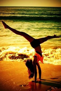 #Beach #Yoga #Pose #Sea #Ocean #Toned