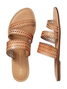 Perforated strappy sandals