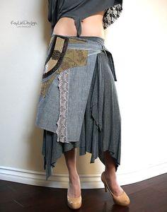 Denim apron with pocket  KA162 Medium by KayLim on Etsy, $115.00