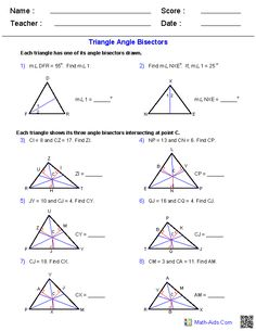 Triangle Worksheets | Cypress Shores Academy | Pinterest ...