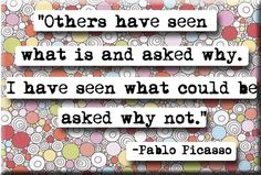 Pablo Picasso Why Not Quote Magnet (no.156)