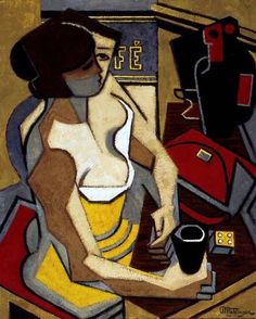 Jean Metzinger (French, - he helped develop cubism. Georges Braque, Figure Painting, Painting & Drawing, Picasso And Braque, Pablo Picasso, Francis Picabia, Sonia Delaunay, Figurative Kunst, Social Art