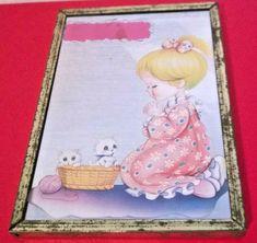 Girl Praying with Kittens Nursery / Bedroom Glass Mirror Illustration Tunbridge Wells, Pray, Kittens, Nursery, Kids Rugs, Mirror, Glass, Illustration, Ideas