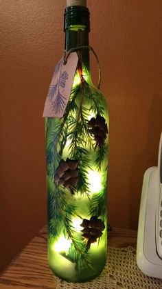 Crafts From Wine Bottles | 17 Best images about Holiday Illumination on Pinterest ...