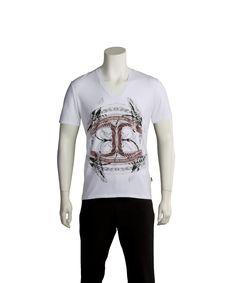 JUST CAVALLI Just Cavalli Men Cultured T-Shirt White'. #justcavalli #cloth #t-shirts