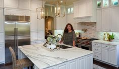 Kitchen Accomplished Kristy Mastrandonas, Owner of Kristy Mastrandonas Interior Design & Styling, Creates Her Own Dream Kitchen All White Kitchen, New Kitchen, Au Jus Gravy, Modern French Country, Flower Mound, Local Companies, Kitchen Remodel, Kitchen Design, Interior Design
