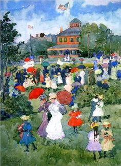 ":Franklin Park, Boston"": Maurice Prendergast, c.1896-7"