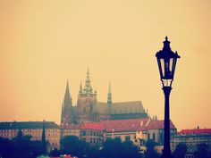 The royal atmosphere of the old town is for me forever emphasized by the vintage lamps and their seducing light. Charles Bridge, Vintage Lamps, My Forever, Prague, Seattle Skyline, Old Town, Old Things, Places, Travel