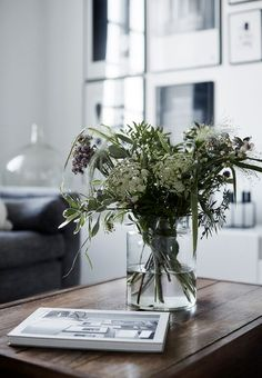 Floral living room details #scandinavianhome #interiorinspiration