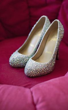 Multi-colored Christian Louboutin wedding shoes - if I would have to wear heels, these would be it!