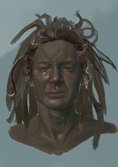 Crying man - portrait #illustration #portrait #digital #wacom #photoshop #digitalpainting #characterconcept