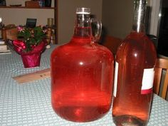Rhubarb Wine is tasty and easy to make – here's how we turn our Rhubarb into Wine. Right now is the ideal time (mid June) to pick your Rhubarb stalks. When you pick them, you can either twist the stalk (close to the ground) to snap it off or cut it using Wine And Liquor, Wine And Beer, Wine Drinks, Alcoholic Beverages, Drinks Alcohol, Party Drinks, Beer Brewing, Home Brewing, Rhubarb Wine