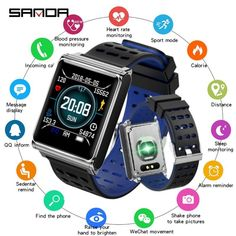 New Smart Watch Men SANDA Sport Watch Men Bluetooth Heart Rate Monitor Smartwatch Women Touch Screen Waterproof IOS Android Most important Price Mens Sport Watches, Watches For Men, Bluetooth, Fitness Watches For Women, Smartphone, Running Watch, Wearable Technology, Heart Rate Monitor, Spanish Style