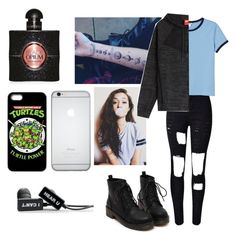"""listening to hey violet really loud"" by hemmingsbxtch ❤ liked on Polyvore featuring Monki, NIKE and Yves Saint Laurent"
