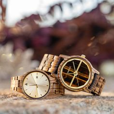 Treehut Wood and Marble Watches Casual Watches, Men's Watches, Marble Watch, Tree Hut, Wooden Watches For Men, Maple Burl, Wooden Sunglasses, Gold Dipped, Wood Watch