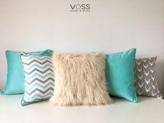 Almohadones Escandinavos Nordicos / Piel Deco / Aguamarina - $ 495,00 en Mercado Libre Cute Cushions, Colourful Cushions, Cute Pillows, Scatter Cushions, Diy Pillows, Throw Pillows, Loft Beds For Small Rooms, Girls Bedroom, Bedroom Decor
