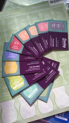 Scentsy Scratch n sniff business cards