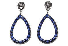 Pave Diamond Tanzanite Earring