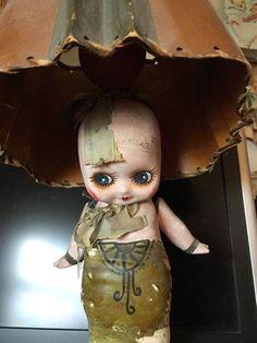 Betty Boop Chalkware Carnival Prize 1930s Kewpie Doll Boudoir