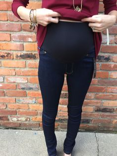 mira skinnny maternity jeans by liver pool // october maternity stitch fix // a monkey and his mama