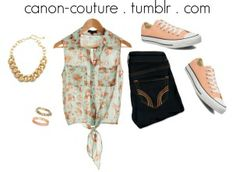spring outfit with converse shoes