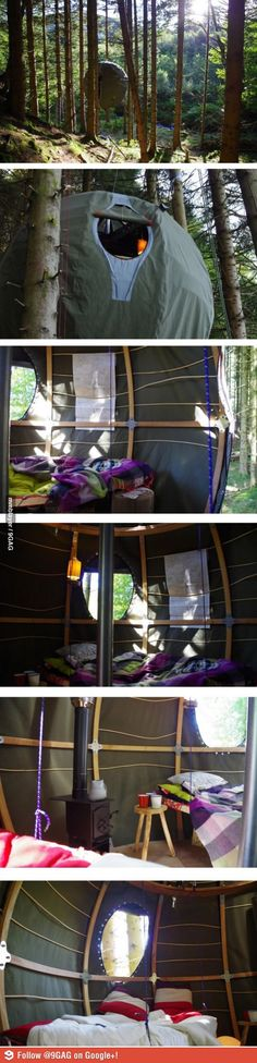 "Circle ""Nest"" tent. Inside and out!"