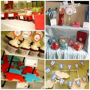 cutest EVER train party theme (do I see a 2nd birthday party in our future here???) ;)