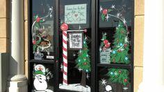 #christmas #window #painting