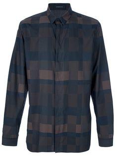 KRIS VAN ASSCHE - Checked Print Shirt. tad pricey :(