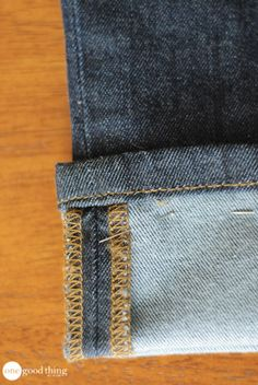 Now we can hem jeans and not look like L'il Abner or Jed Clampett. Super idea!