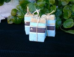 Goats Milk, Honey, and Oatmeal Soap wrapped in handmade paper.  From Nature's Comfort Soap Co.