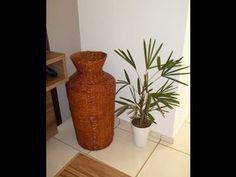 Vasos e potes de jornal (Vases and pots from newspaper) - Part 1 - YouTube