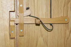 Oak Cottage Doors and Latches Wooden Gate Door, Wooden Door Knobs, Wooden Hinges, Barn Door Handles, Door Latches, Wood Projects, Woodworking Projects, Oak Framed Buildings, Custom Gates